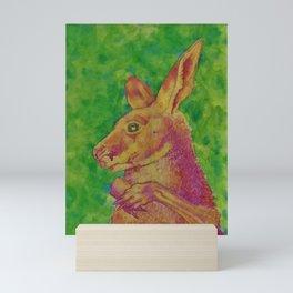 Timid Kangaroo Mini Art Print