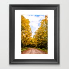 Follow the Colors of Fall Framed Art Print