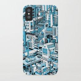 City Machine - Blue iPhone Case