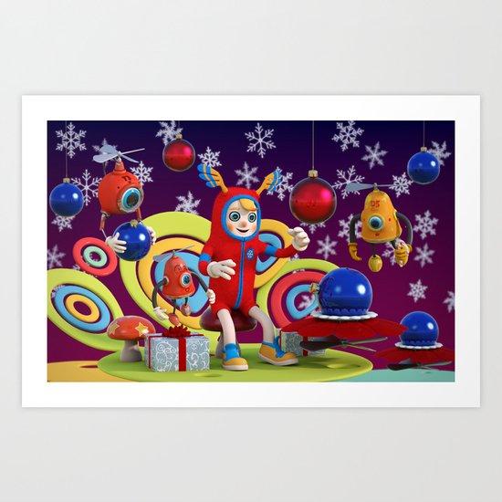 Bonkey the Elf Art Print