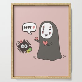 No-Face in Love of SootBall Serving Tray