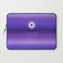 Chakra Series Sahasrara(Seventh Chakra)Affirmation Laptop Sleeve