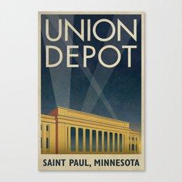 Union Depot Art Deco Poster Canvas Print