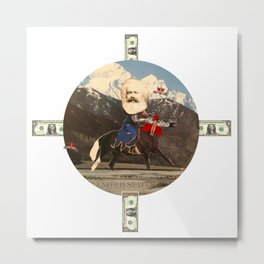 Das Kreuz mit den Rittern · Karl der Große Metal Print