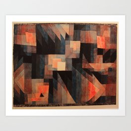 Paul Klee - Gradation, Red-Green (Vermillion) - 1921 Art Print