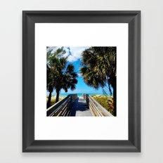 Pathway to Beach Heaven Framed Art Print