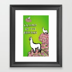 Llama on the Brains Framed Art Print