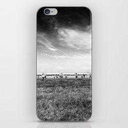 Fields of the Elysium Locomotive Street Photography BW Art iPhone Skin