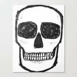 No. 89 - Black and white skull Canvas Print