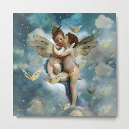 """Angels in love in heaven with butterflies"" Metal Print"