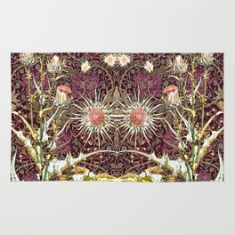 Honeysuckle and Thistles Pattern Rug