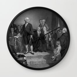 Washington Delivering His Inaugural Wall Clock