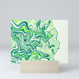 Fresh Lime Agate Slice Mini Art Print