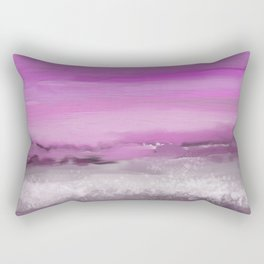Pink and Purple Abstract Seascape Rectangular Pillow