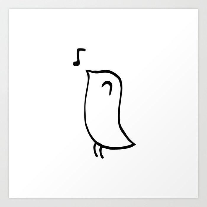 chirping bird art print by christiansolf society6