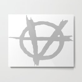 Vagenda Logo - Basic Silver Metal Print