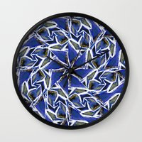 cracked Wall Clocks featuring Cracked by Lachlan Willis