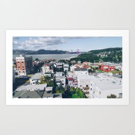 View of The City from above my Friends Apartment Art Print