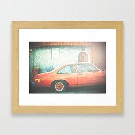 Orange Ride Framed Art Print