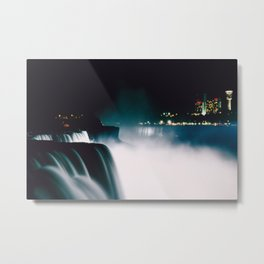 Niagara Night Metal Print