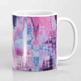 Violet Abstract Glitch effect Coffee Mug