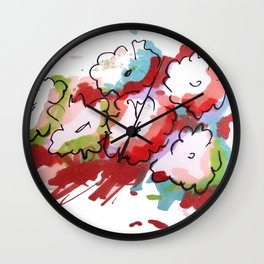 Saturated Flowers Wall Clock