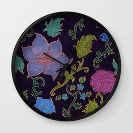Floral Filigree Wall Clock