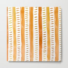 Watercolor lines - light orange Metal Print