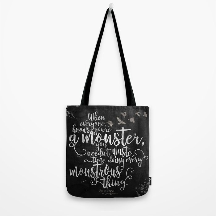 Six of Crows - Monster - Black Tote Bag