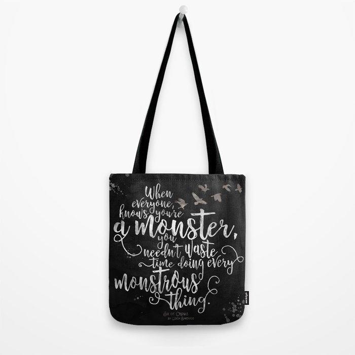 Six of Crows - Monster - Black Tote Bag