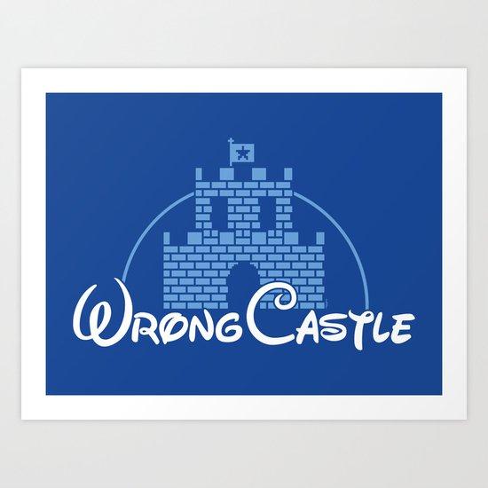 Wrong Castle Art Print