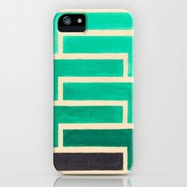 Turquoise Geometric Aztec Pattern iPhone Case