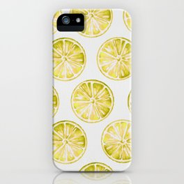 Yellow Citrus iPhone Case