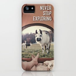 ALPACA  - CAMPING WITH FRIENDS iPhone Case