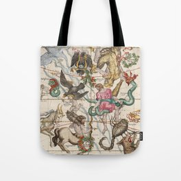 Vintage Constellation Map - Star Atlas - Sagittarious - Scorpio Tote Bag