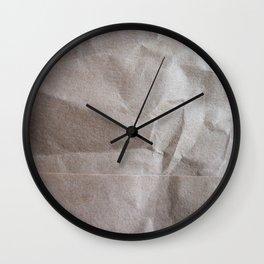 Brown bagging it. Wall Clock