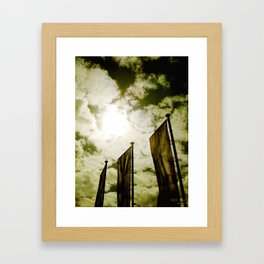 Feed me Clouds Framed Art Print
