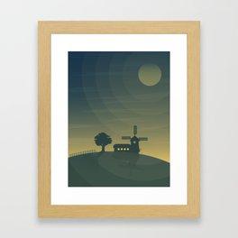 Nautical Dawn Windmill Framed Art Print