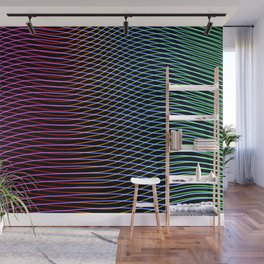 lines and patterns wing light painting Wall Mural
