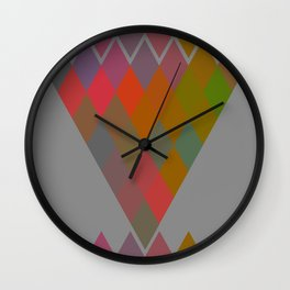 """Colorful Rhombus pattern"" Wall Clock"