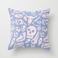 Soft Skulls Throw Pillow