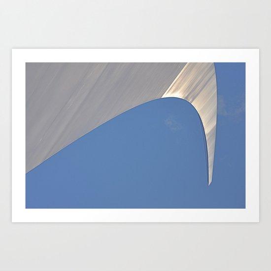 Found Art Deco Breaking Wave Art Print