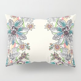 Wire Floral Pillow Sham