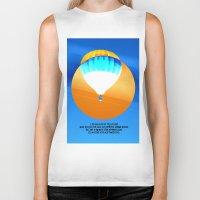 hot air balloon Biker Tanks featuring Cold Hot Air Balloon by Annaleta Nichols