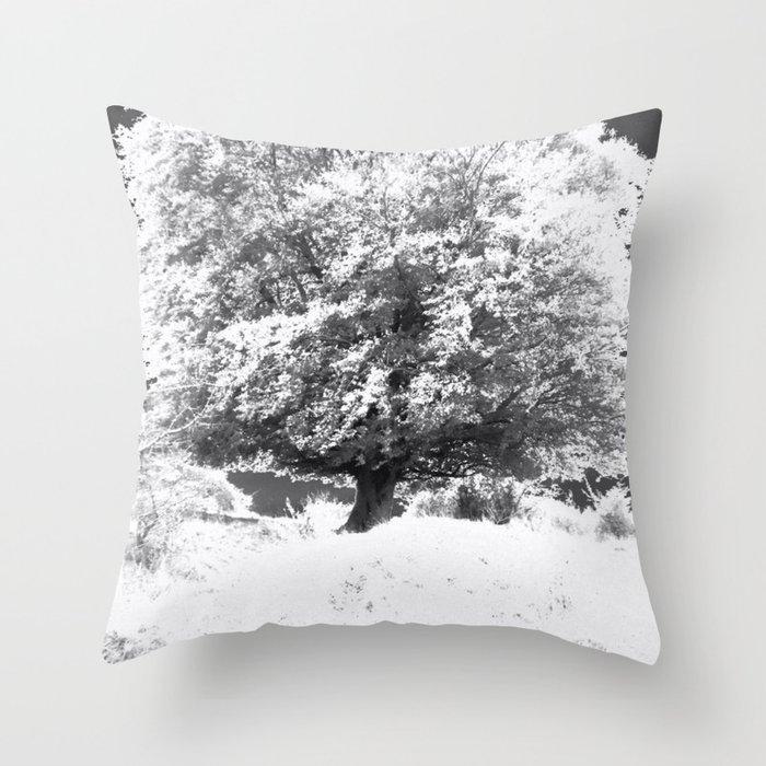 Snow Tree Throw Pillow