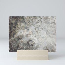Pockets of Salt on the Rocks by the Sea Mini Art Print