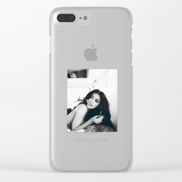 Kylie Jenner Smoking Clear iPhone Case