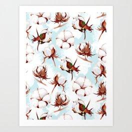 Cotton Pattern Art Print