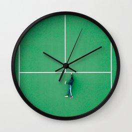 Tennis court green Wall Clock