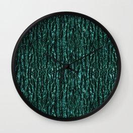 Emerald Tree Bark Wall Clock
